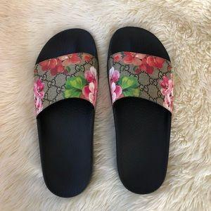 Authentic Gucci Blooms Supreme Slides